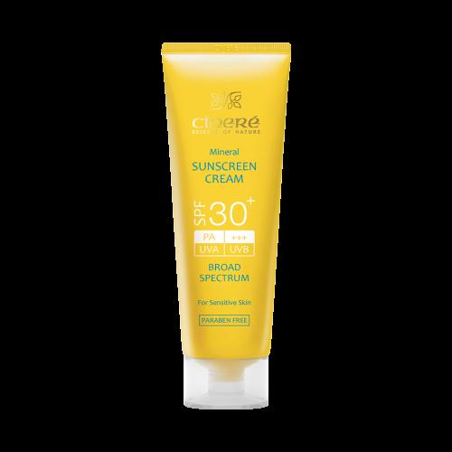 ضدآفتاب سینره پوست حساس و کودکان اس پی اف +۳۰ بی رنگ